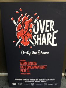 Design Week Portland Overshare poster featuring Adam Garcia, Kate Bingaman-Burt, Rich Tu with Justin Gignac