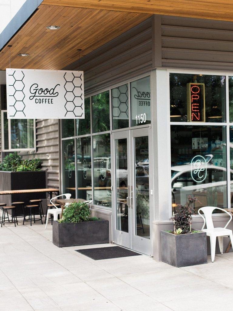Good Coffee in Buckman is where I love to start things off. They're an independent group of shops serving the Eastside with a rotating repertoire of coffee and tea offerings. The impeccably minimal interior and walkway-side seating have provided countless beautiful backdrops for meetings with friends and clients.