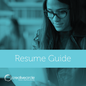 Creative Circle Resume Guide