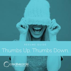 resume guide creative circle