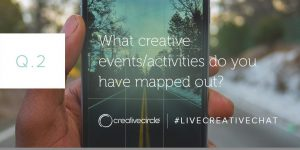 Q. 2 What creative events/activities do you have mapped out? #LIVECREATIVECHAT