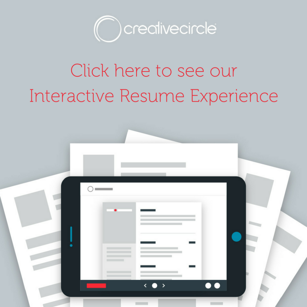 Creative Circle Interactive Resume Experience
