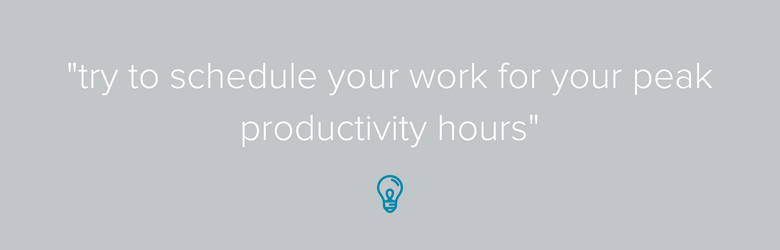 Peak Productivity Hours