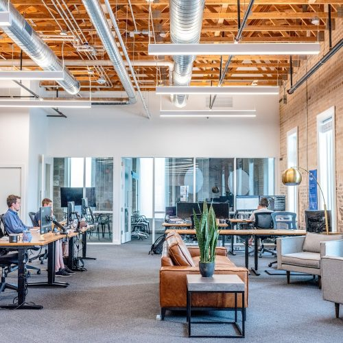 modern and open office space