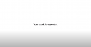 Your work is essential