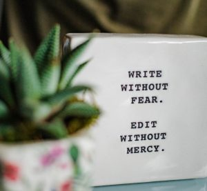 Write without fear. Edit without mercy