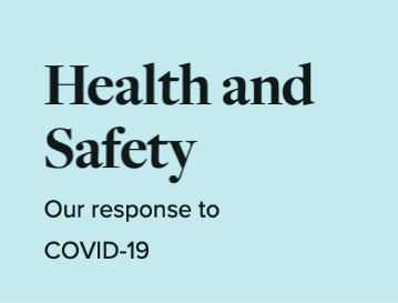 Health and Safety: Our response to COVID-19