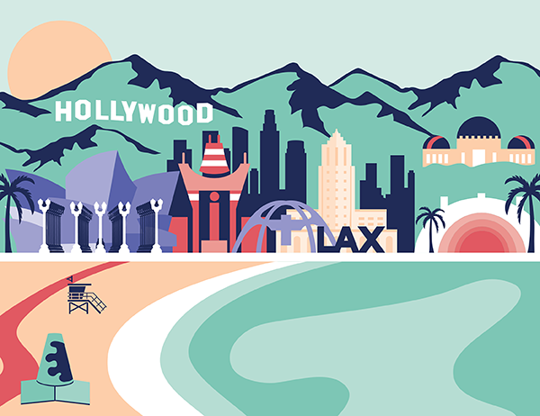 illustration of Los Angeles