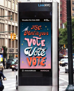 NYC Mail in Your Vote advertisement