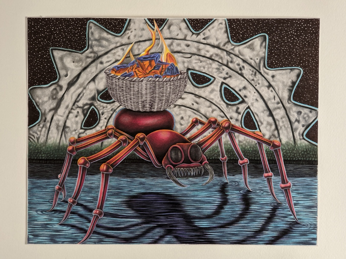 illustration-of-spider-carrying-fire-on-its-back