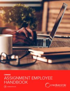 Canada Assignment Employee Handbook